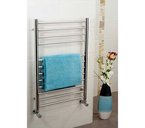 Apollo Garda Stainless Steel 400mm Wide Towel Warmer