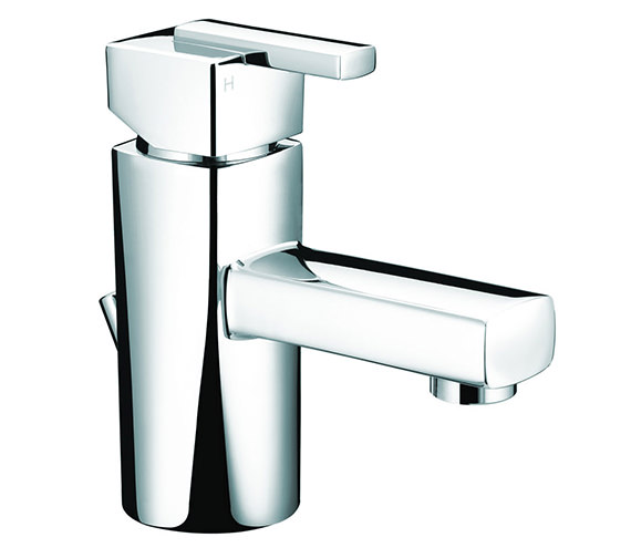 Bristan Qube Mini Basin Mixer Tap With Pop-Up Waste - QU SMBAS C