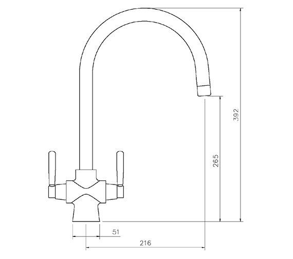 Technical drawing QS-V18852 / TSA5CM/