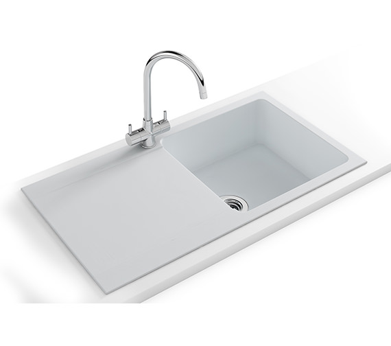 Franke Orion Propack OID 611-94 Tectonite Polar White Finish Kitchen Sink And Tap
