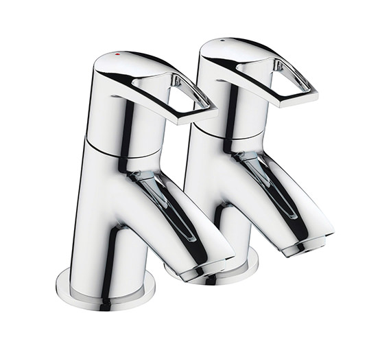 Bristan Smile Three Fourth Inch Chrome Bath Tap Pair - SM 3-4 C
