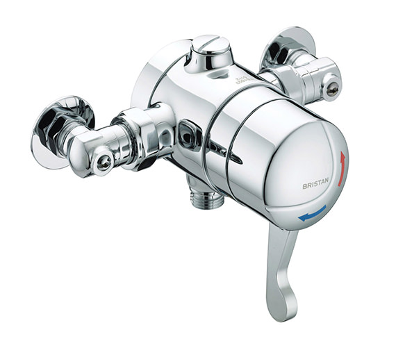 Bristan Gummers Opac Thermostatic Exposed Shower Valve With Isolation Elbow
