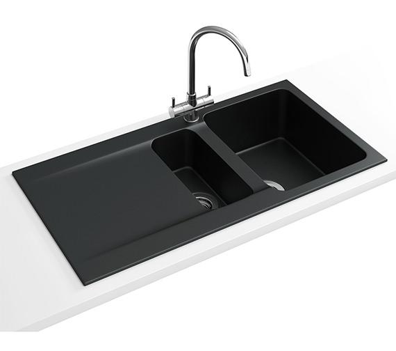 Franke Black Kitchen Tap : Franke Orion Propack OID 651 Tectonite Carbon Black Sink And Tap 114 ...