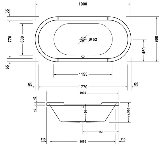 Technical drawing QS-V63237 / 760009000JS1000