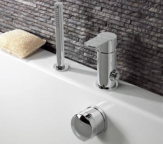 Crosswater Wisp Deck Mounted Diverter Valve For Bath Filler And Handset