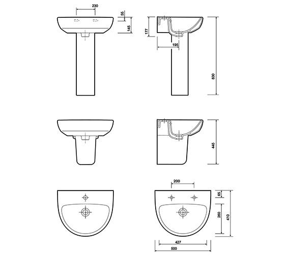 Technical drawing QS-V10195 / E14121WH