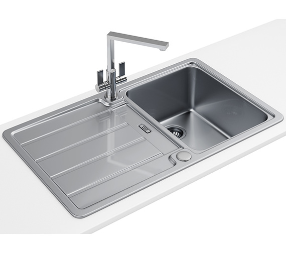 Franke Hydros Designer Pack HDX 614 1.0 Bowl Stainless Steel Sink And Tap