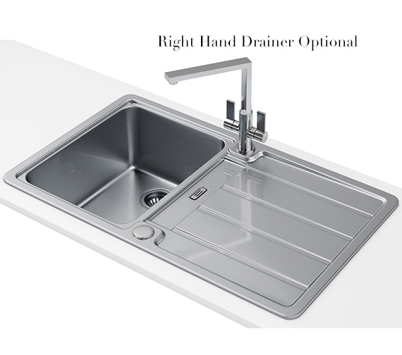 Alternate image of Franke Hydros Designer Pack HDX 614 1.0 Bowl Stainless Steel Sink And Tap
