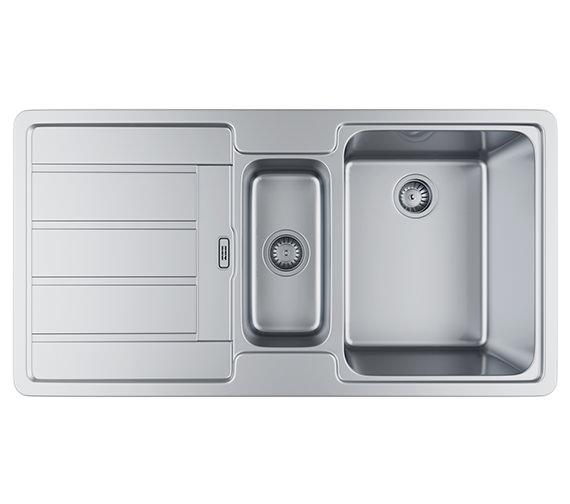 Franke Hydros HDX 654 Stainless Steel 1.5 Bowl Kitchen Inset Sink