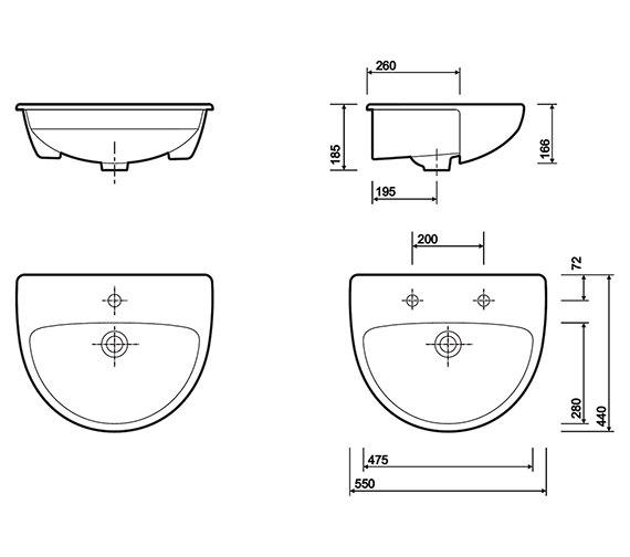 Technical drawing QS-V10202 / E14661WH