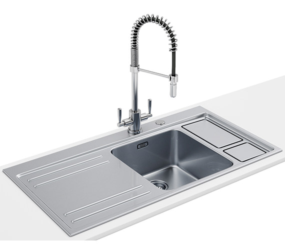Franke Largo Workcentre DP LAX 211-W-36 1.0 B Stainless Steel Sink And Tap