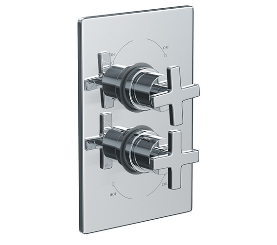 Abode Euphoria Plate Mounted Thermostatic Shower Mixer Valve - AB2206