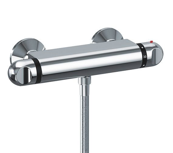 Abode Euphoria Circular Thermostatic Bar Shower Valve - AB2101