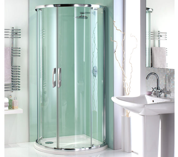 Showerlux Glide Maxi Quadrant Twin Door With Standard Tray - 6842002531