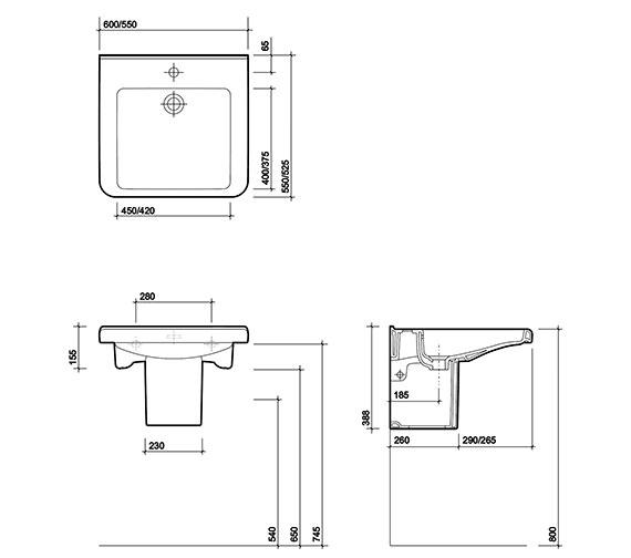 Technical drawing QS-V27842 / TA4311WH