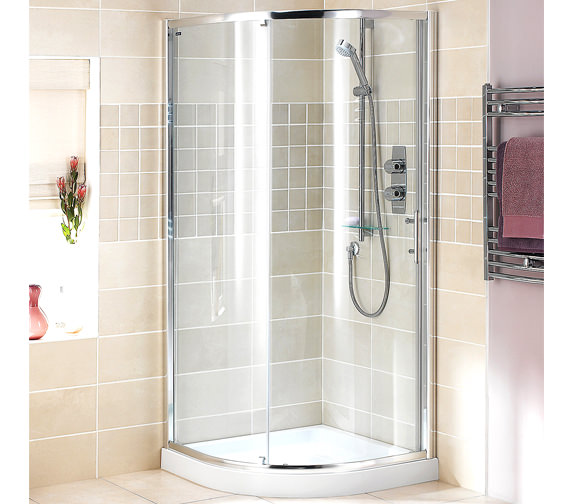 Showerlux Glide Round Single Door Enclosure 900 x 900mm - 6890900500