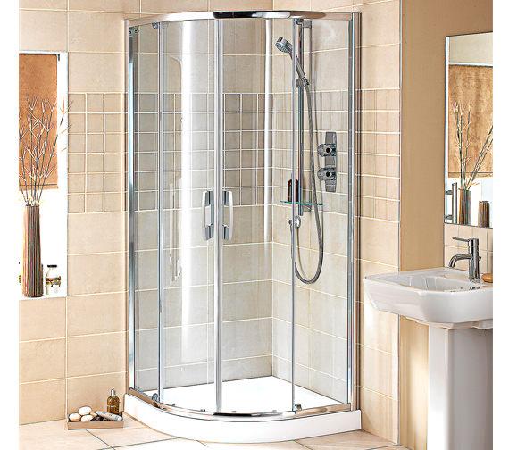 Showerlux Glide Round Twin Slider Door Enclosure 900 X 900mm