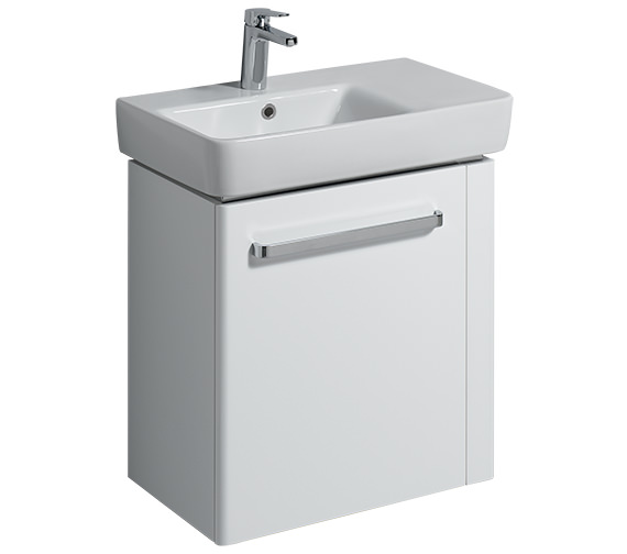 Twyford E200 590mm White Unit And 650mm Basin With Right Hand Shelf