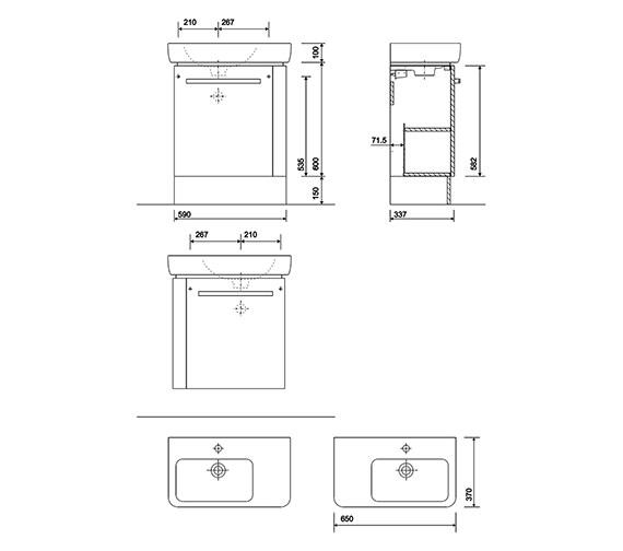 Technical drawing QS-V10262 / E20291WH