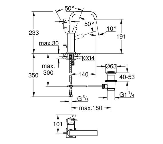 Technical drawing QS-V57743 / 32146000