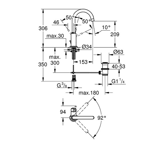 Technical drawing QS-V58296 / 32042001