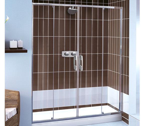 Showerlux Glide 6mm Glass Twin Slider Door 1700mm - 6941700500