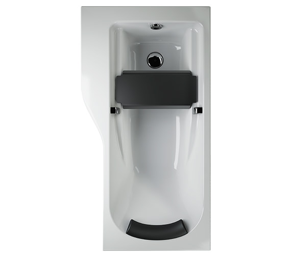 Twyford All 1700 x 900mm Offset Left Hand NTH Family Bath With Grip