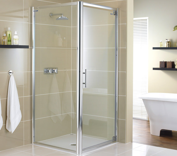 Showerlux Glide 8mm Glass Pivot Shower Door 1000mm - 6821000520