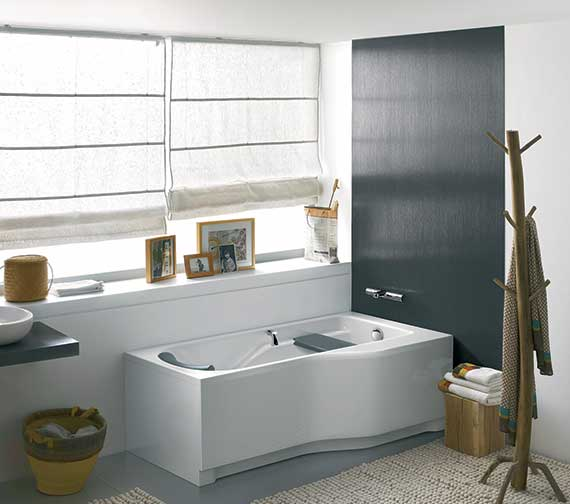 Additional image of Twyford All 1700 x 900mm Offset Right Hand NTH Family Bath With Grip