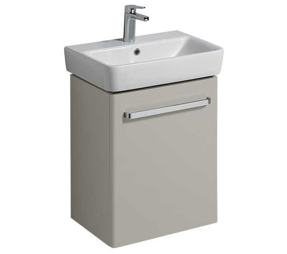 Twyford E200 500mm Grey Unit For 550mm 1 Or 2 Tap Hole Basin