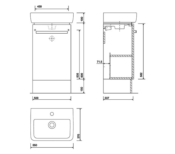 Technical drawing QS-V10270 / E20173GY
