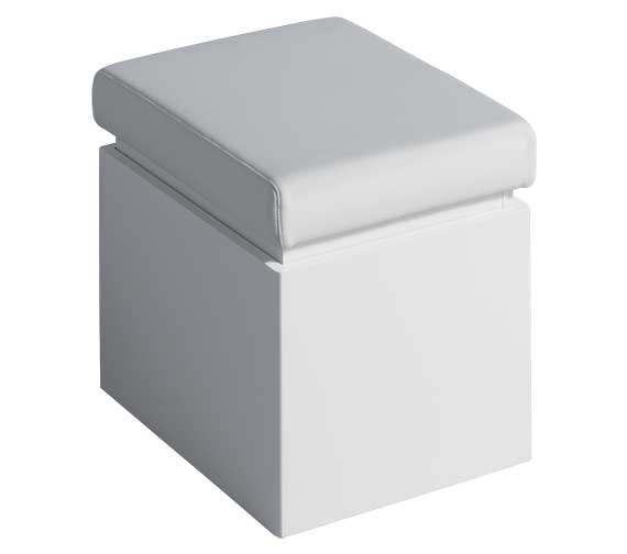 Twyford All White Finish Bathroom Seat With Storage - TA0901WH