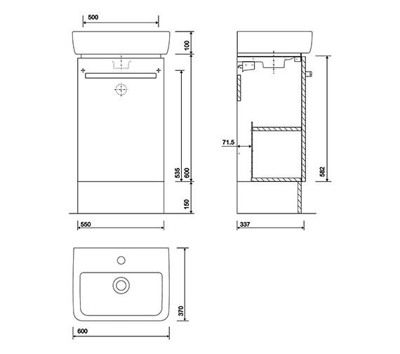 Technical drawing QS-V10266 / E20174WH