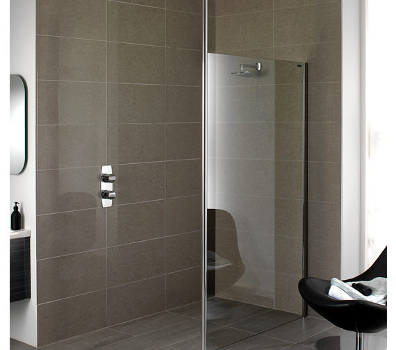 Showerlux Urban Chic Flat Wetroom Panel With Ceiling Support 1000mm
