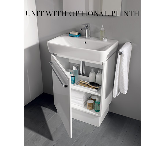 Alternate image of Twyford E200 550mm Unit For 600mm 1 Or 2 Tap Hole Basin