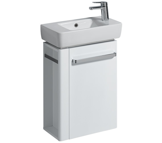 Twyford E200 White Vanity Unit 448mm And 500mm Basin