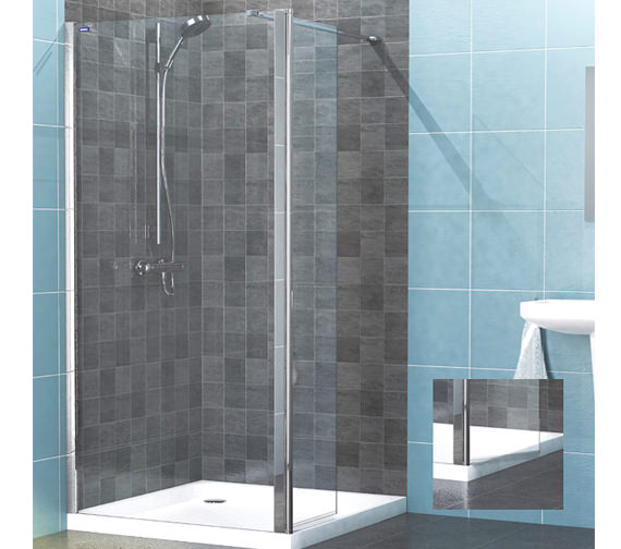 Showerlux Legacy Hinged Wetroom Panel 1400mm - 6291400100