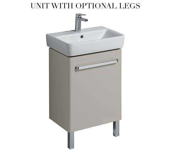 Additional image of Twyford E200 500mm Grey Unit For 550mm 1 Or 2 Tap Hole Basin