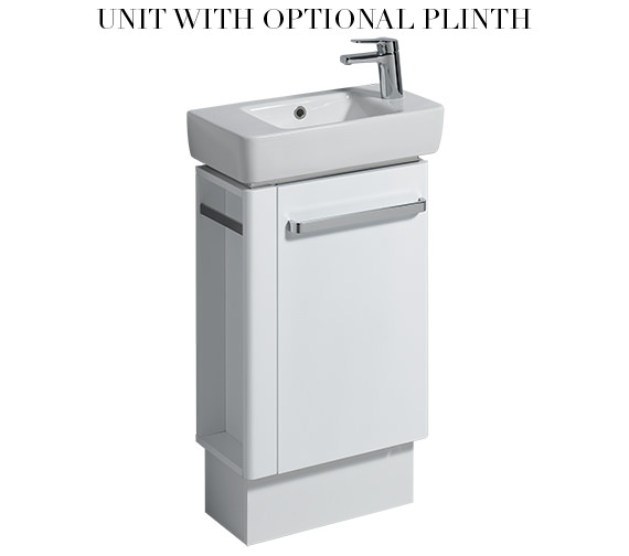 Alternate image of Twyford E200 White Vanity Unit 448mm And 500mm Basin