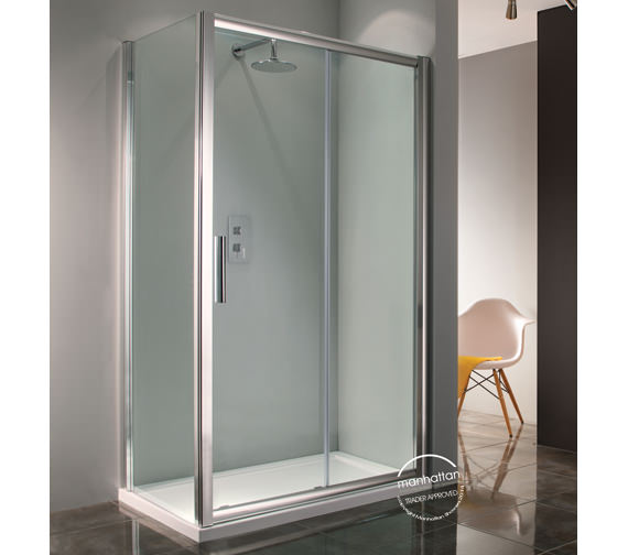 Manhattan 6 straight sliding shower door 1400mm for 1400mm sliding shower door