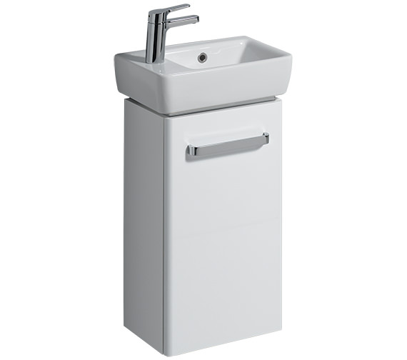 Additional image of Twyford E200 348mm Grey Unit And 400mm 1 Left Hand Tap Hole Basin - E20171GY