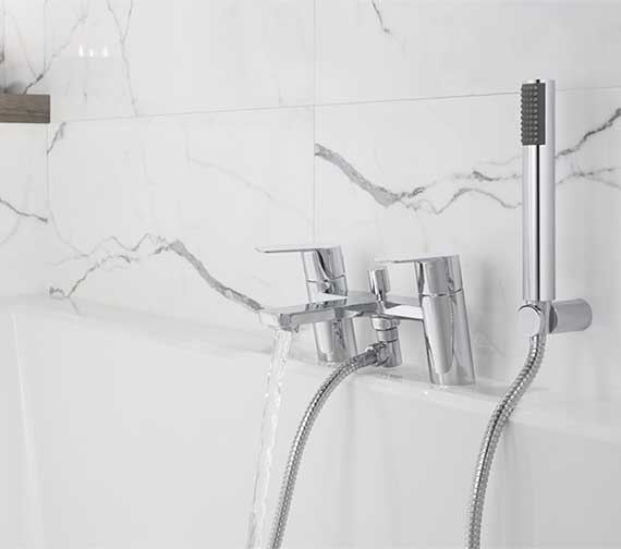 Crosswater Kelly Hoppen Zero 6 Bath Shower Mixer Tap With Kit