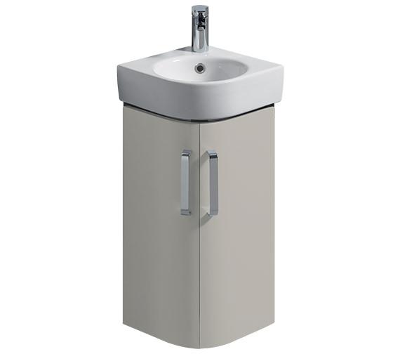 Twyford E200 425mm Grey Corner Unit And 320mm Handrinse Basin