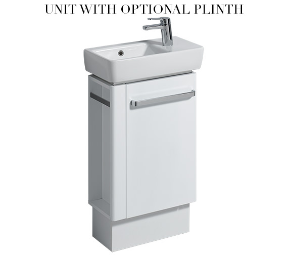 Alternate image of Twyford E200 448mm White Unit And 500mm Basin With Left Hand Side Bowl