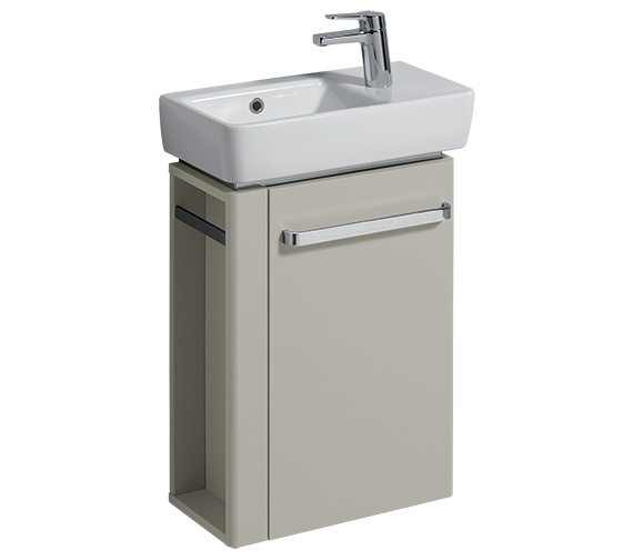 Additional image of Twyford E200 448mm White Unit And 500mm Basin With Left Hand Side Bowl