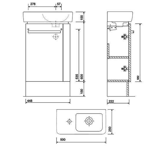 Technical drawing QS-V10277 / E20192WH