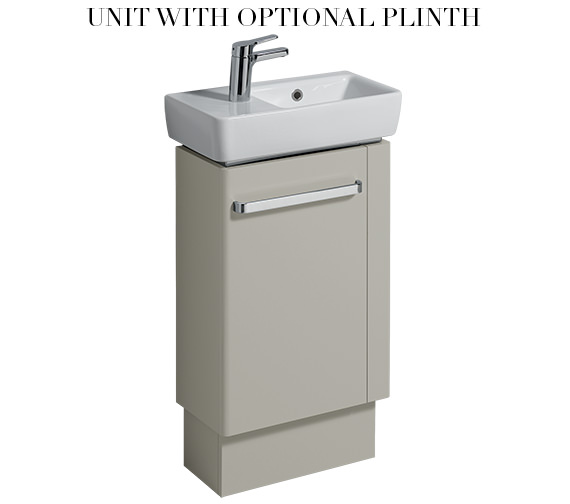 Additional image of Twyford E200 448mm Grey Unit And 500mm Basin With RH Bowl And LH Tap Hole