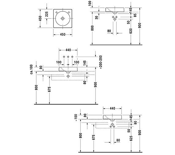 Technical drawing QS-D19350 / 0320450000
