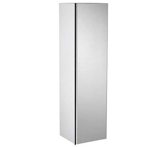 Roper Rhodes Pursuit 1200mm Tall Mirrored Storage Unit Gloss White