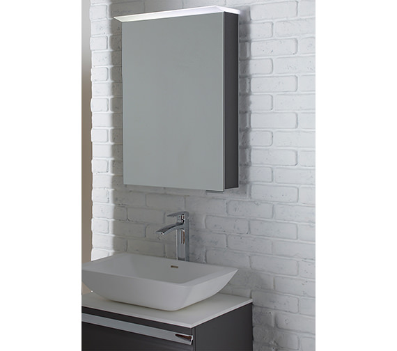 Additional image of Roper Rhodes Virtue 505 x 705mm LED Illuminated Mirror Cabinet Gloss White